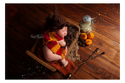 harry potter baby photo shoot by Sarah Mclean Photography in Lancashire